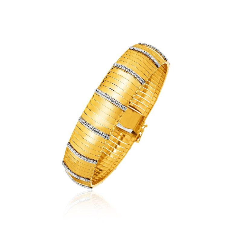 Gold Cleopatra Style Bracelet