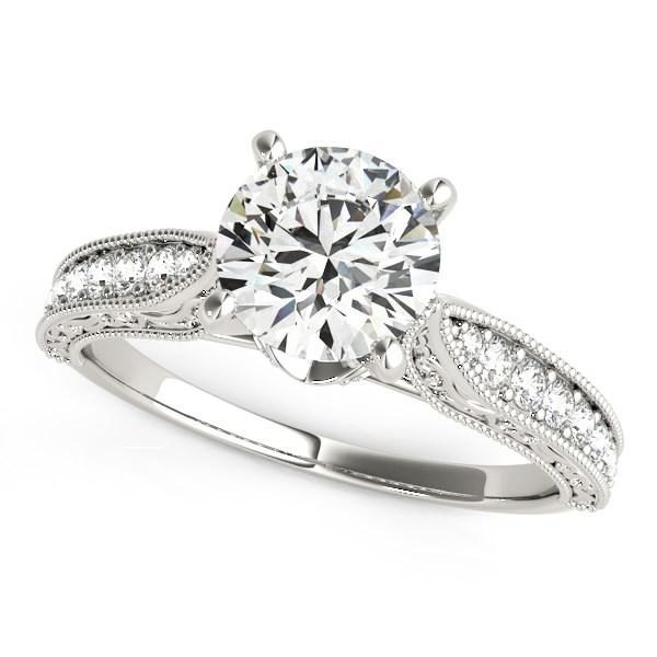 14k White Gold Antique Design Diamond Engagement Ring (1 5/8 cttw)