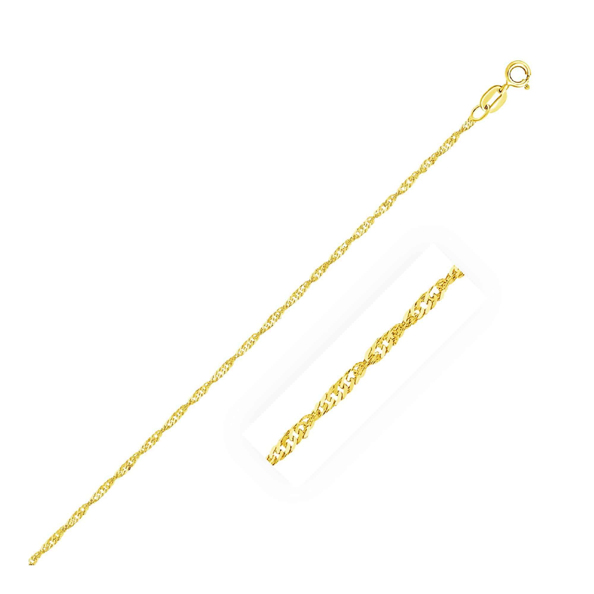 10k Yellow Gold Singapore Chain 1.5mm