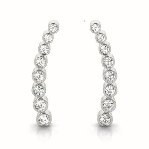 Diamond Climbing Earring set