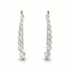 Gold and Diamond Climbing Earrings Set