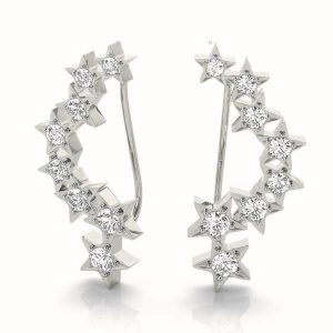 Diamond Climbing Earrings