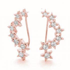 Diamond Climbing Earrings
