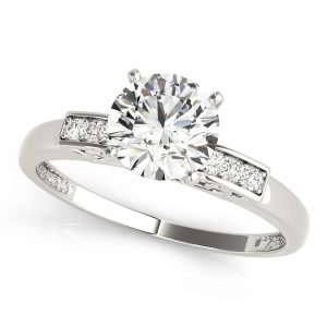 Diamond Engagement Ring Channel set side stone