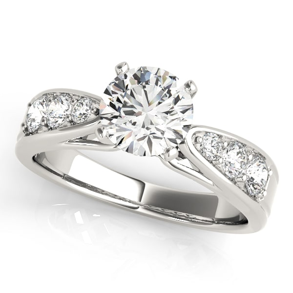 Diamond Engagement Ring Channel Set Side Stones
