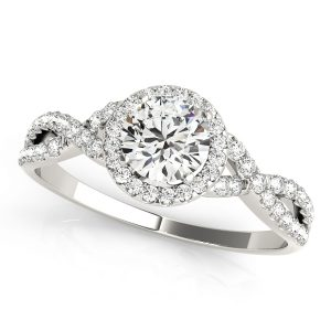 Diamond Engagement ring with Multi-row Side stones