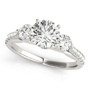 Diamond Engagement Ring With Side Stones