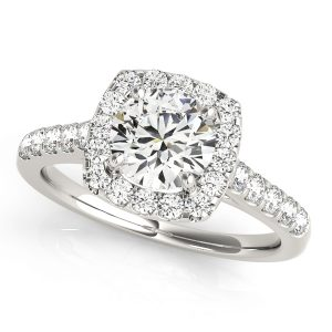 Series Diamond Halo Engagement Rings