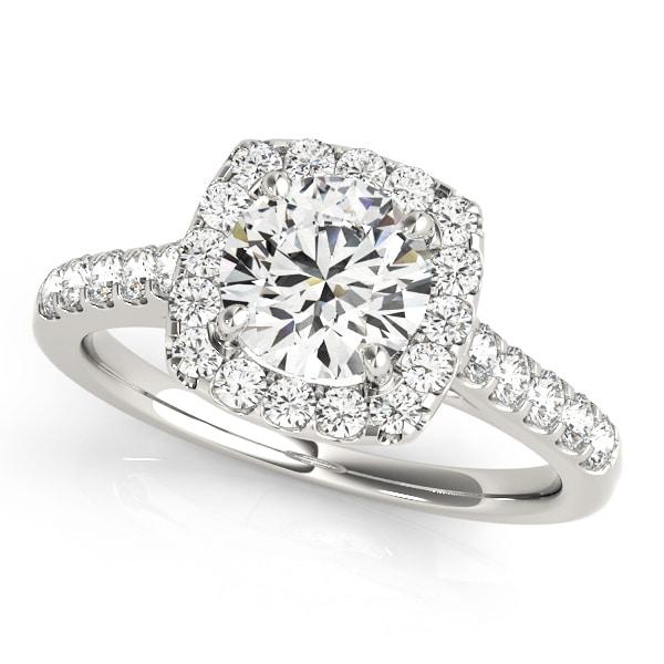 Series Diamond Halo Engagement Rings