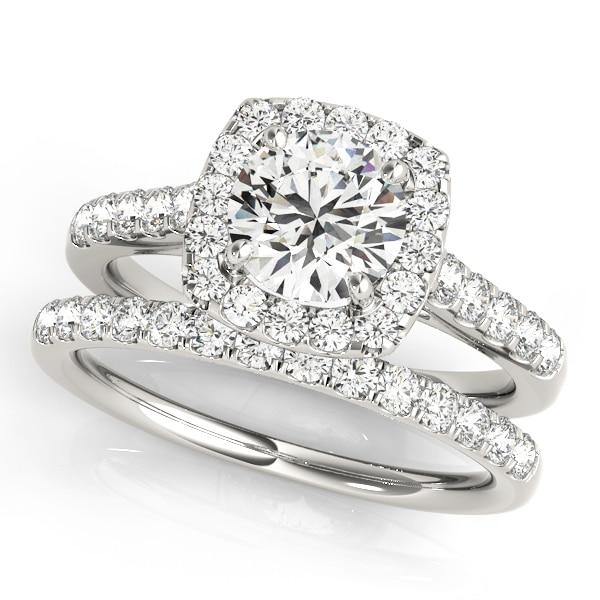 Multi Diamond Halo Engagement Ring