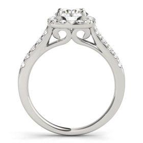 Series Diamond Halo Engagement Ring