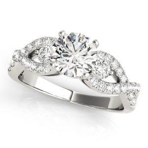 Diamond Engagement Ring with Multi-row Diamonds