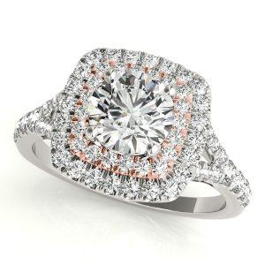 Double Halo Big Diamond Engagement Ring