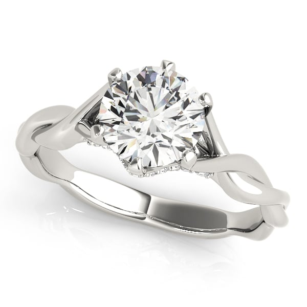 Diamond Engagement Ring Twisted Shank