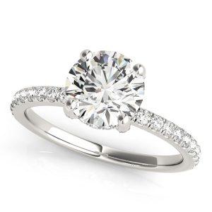 Diamond Hidden Halo Engagement Ring