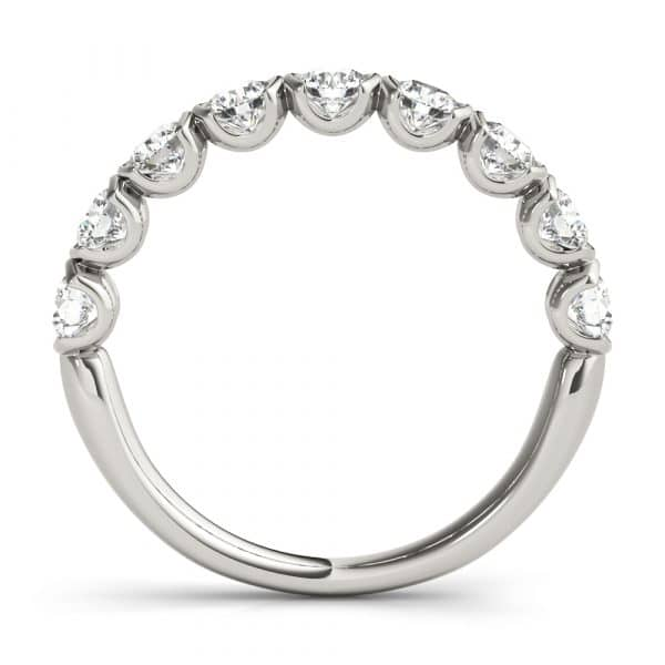 Diamond Twisted Wedding Band