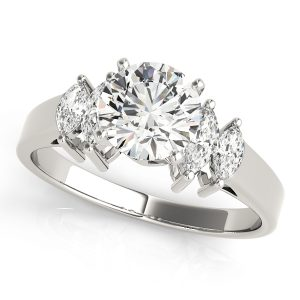 Diamond Engagement Ring Marquise Side Stones