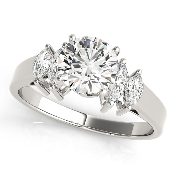 Diamond Engagement Ring Marquise Side Stones