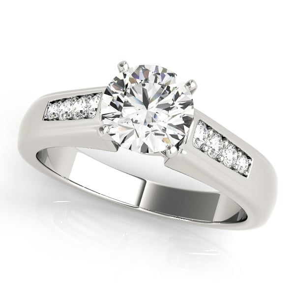 Diamond Engagement Ring With Channel Set Side Stones