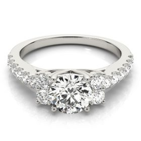 Diamond Engagement Ring Cluster Sides