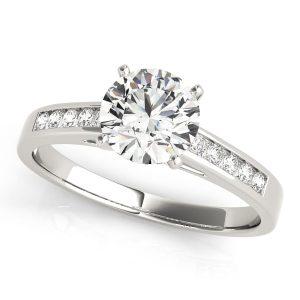Diamond Engagement Ring Channel Set
