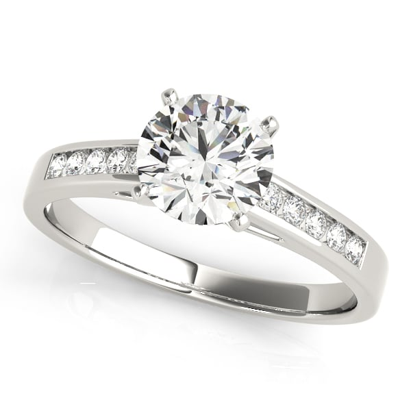 Diamond Engagement Ring Channel Set