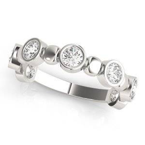 Stackable Diamond Band Platinum