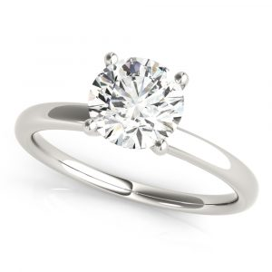 Diamond Hidden Halo Engagement Ring white gold