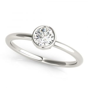 Round Solitaire Stackable Solitaire Ring