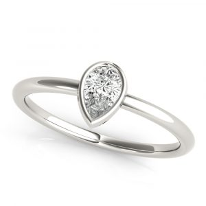 Pear Shape Stackable Solitaire Ring