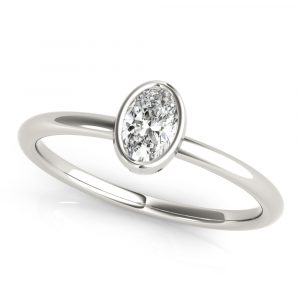 Oval Stackable Solitaire Ring