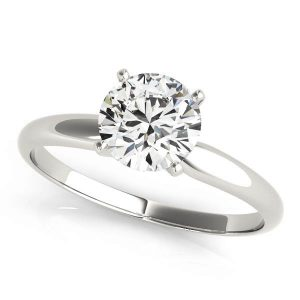 Four Prong Solitaire Ring White Gold