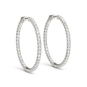 Diamond Inside Outside Hoop Earring set