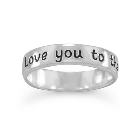 """""""Love you to the moon and back"""" Ring"""