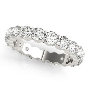 Diamond Eternity Band with shared prongs