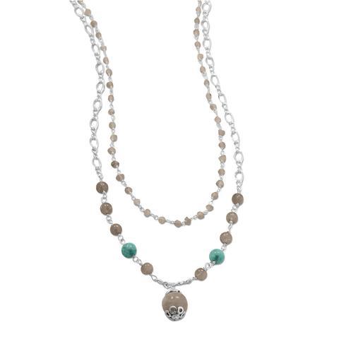 Silver bead chains