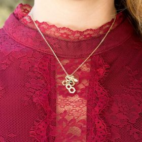 """""""BEE Mine!"""" 14 Karat Gold Plated and Signity CZ Bee Necklace"""