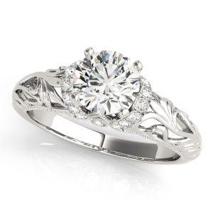 Diamond Silver Antique Vintage Ring