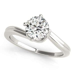 Single Diamond Solitaire Ring Front Look