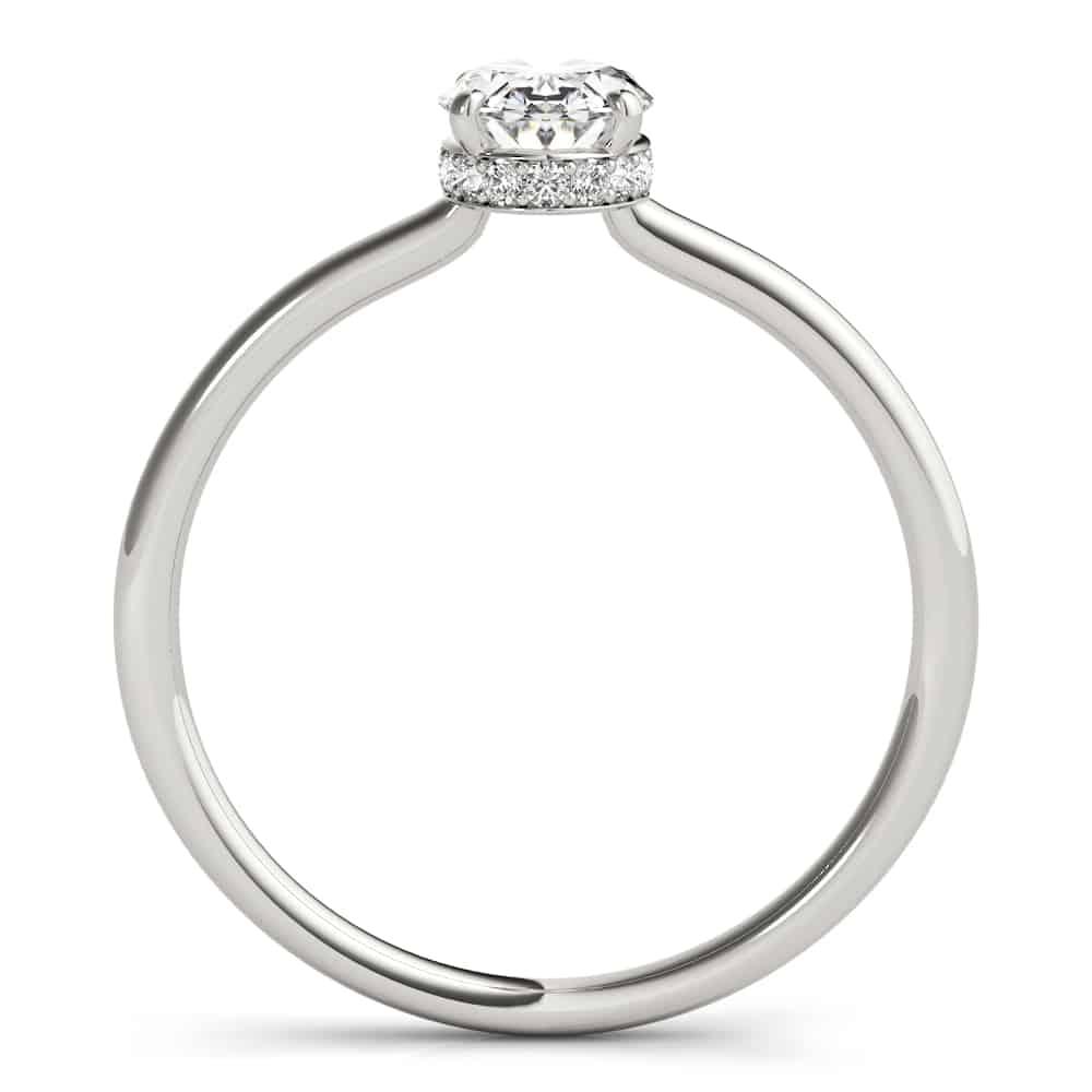 diamond oval hidden halo ring