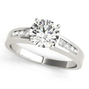 Diamond Channel Engagement Ring Front