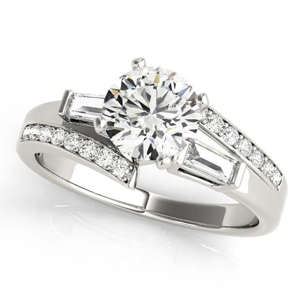 baguette diamond ring upper look