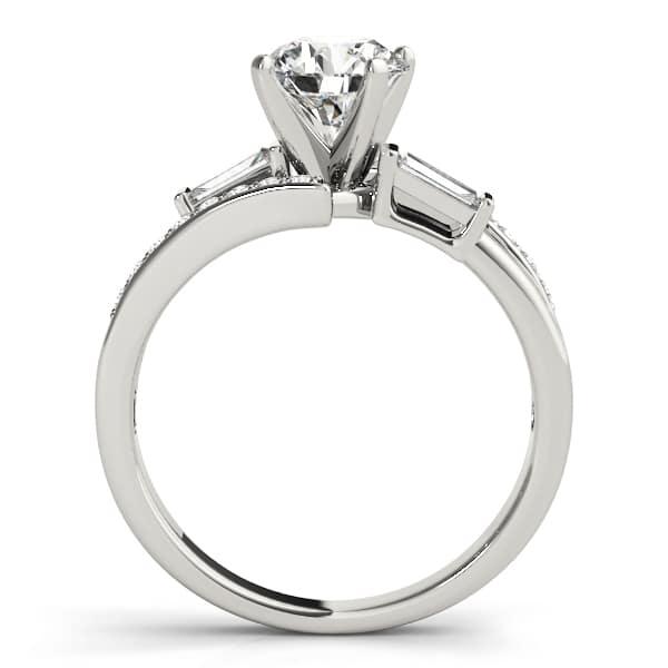 baguette diamond ring side look