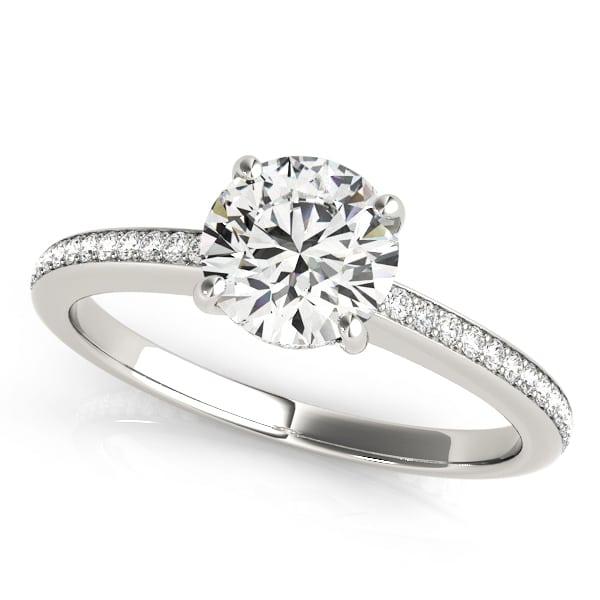 Diamond Hidden Halo Engagement Ring front look