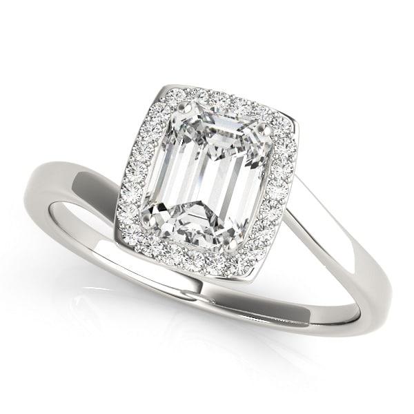 cushion look diamond ring upper side