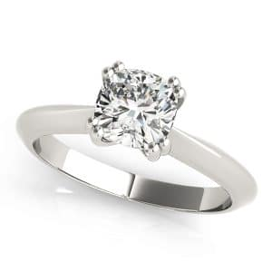 Silver Diamond Solitaire Ring