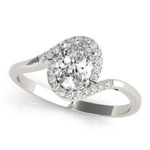 Diamond Halo Ring Front Look
