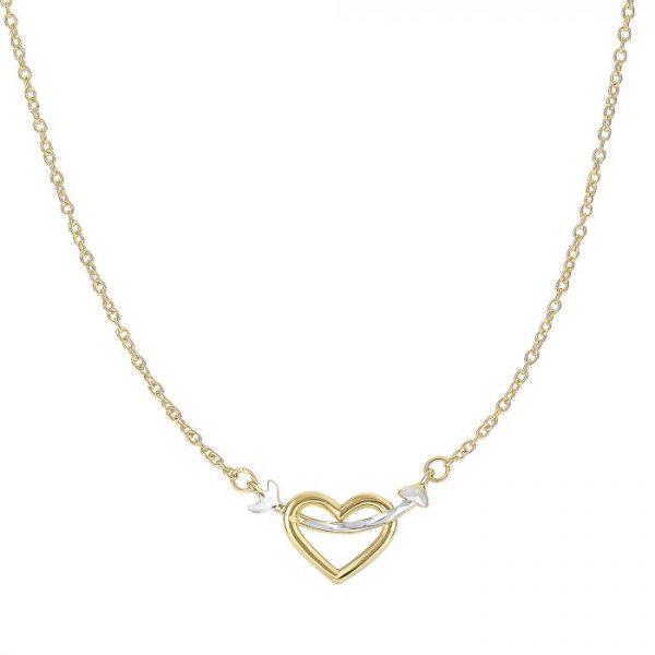 14K Gold Heart & Arrow Necklace