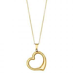 14kt Gold Heart Necklace